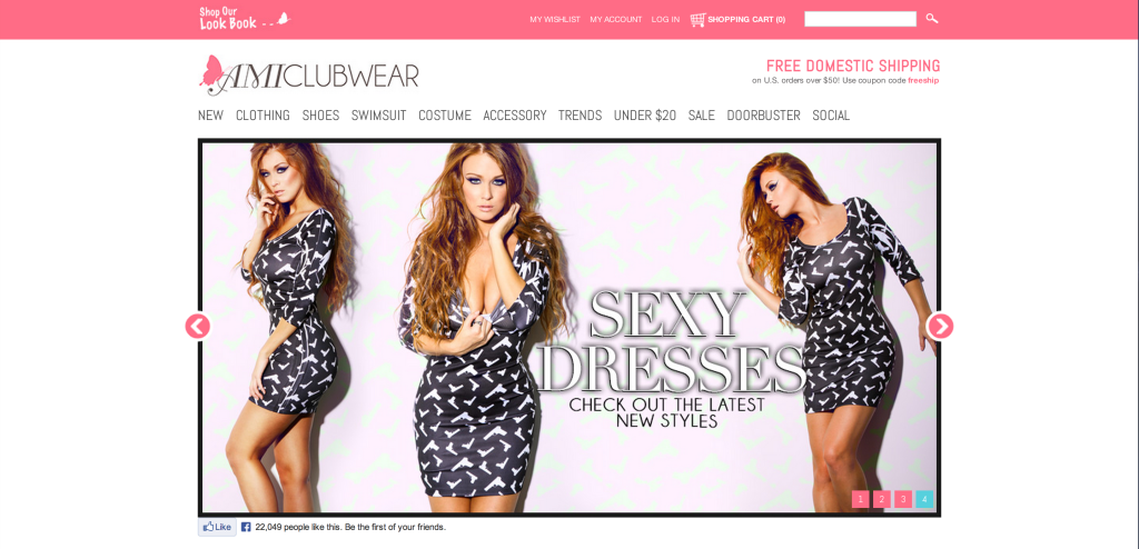 amiclubwear screen