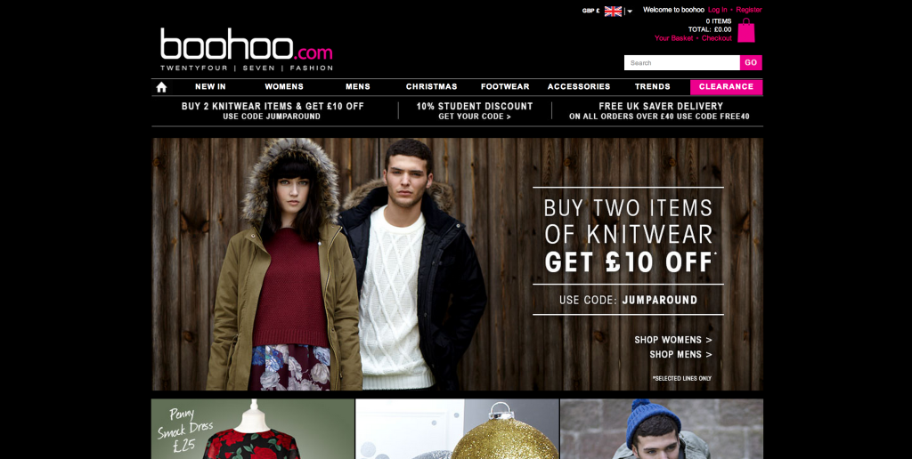 boohoo screen