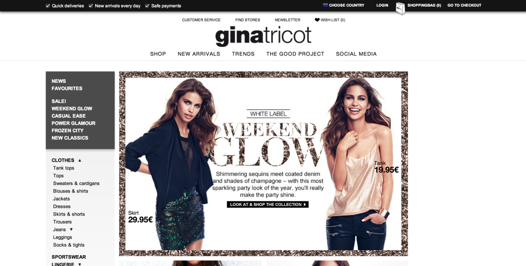 ginatricot screen