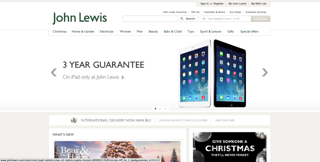 johnlewis screen