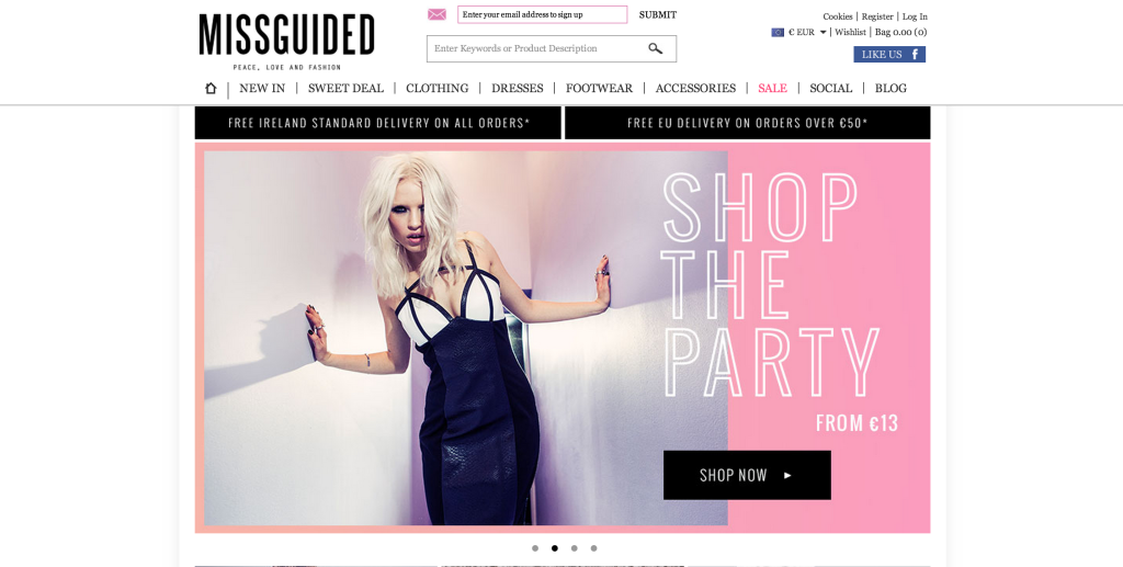 missguided screen