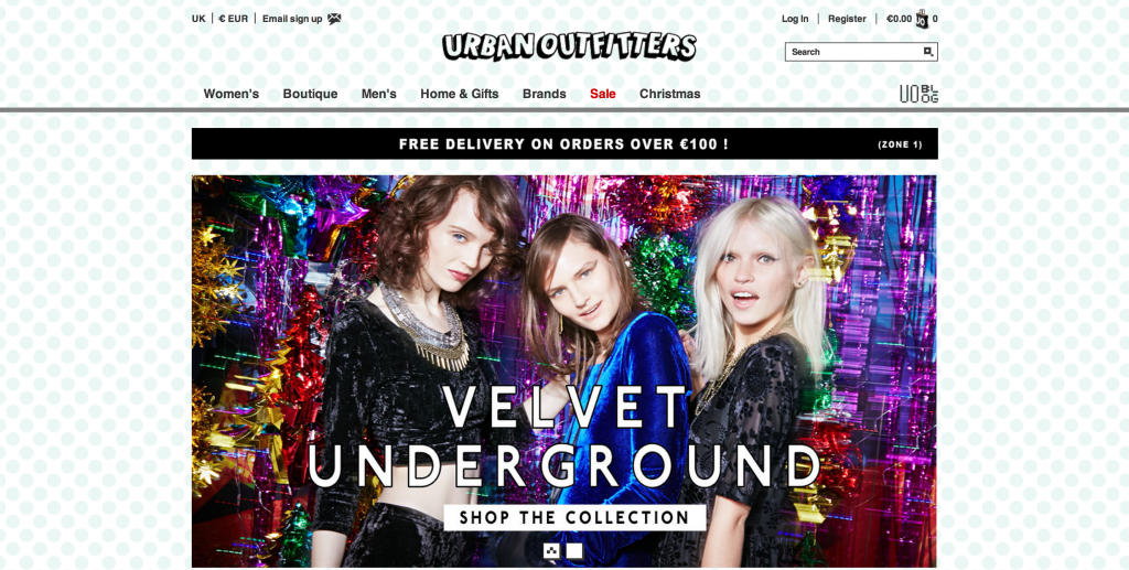 urbanoutfitters screen